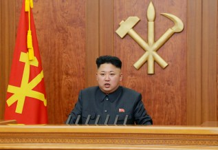 "North Korean leader Kim Jong Un delivers a speech during his New Year address in this undated photo, released by Kyodo January 1, 2014. Kim made his first reference to the execution of his powerful uncle in a New Year's address, saying the reclusive state's ruling party had become stronger after it was purged of ""factional filth."" And as he called for better relations with South Korea, he warned that another war on the Korean peninsula would cause a massive nuclear disaster that would hit the United States. Mandatory credit REUTERS/Kyodo (NORTH KOREA - Tags: POLITICS) FOR EDITORIAL -- USE ONLY. NOT FOR SALE FOR MARKETING OR ADVERTISING CAMPAIGNS. THIS IMAGE HAS BEEN SUPPLIED BY A THIRD PARTY. IT IS DISTRIBUTED, EXACTLY AS RECEIVED BY REUTERS, AS A SERVICE TO CLIENTS. MANDATORY CREDIT. JAPAN OUT. NO COMMERCIAL OR EDITORIAL SALES IN JAPAN - RTX16YNU"
