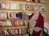 Sisački dom za starije ima vlastitu knjižnicu o kojoj brine korisnica, Ljubica Kovaček (foto: J. Grgurić)