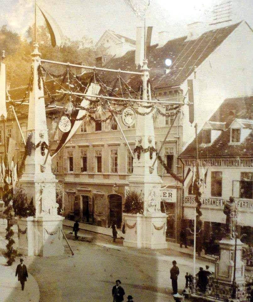 Slavoluk u Mesničkoj kao znak dobrodošlice caru Franji Josipu