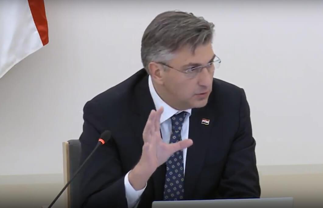 [UŽIVO] Počela sjednica Vlade: Plenković nabrojao što će se sve zatvarati u narednim danima
