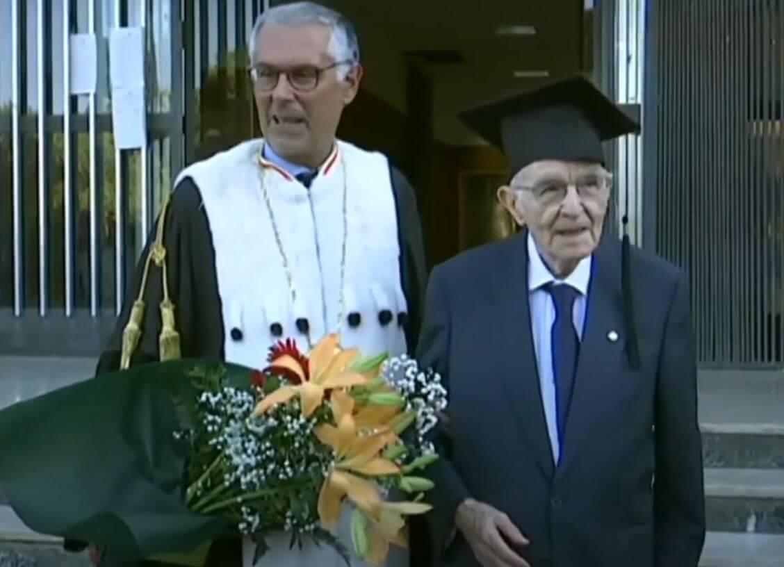 Kakav događaj: Umirovljenik (96) usred pandemije diplomirao s najboljim ocjenama