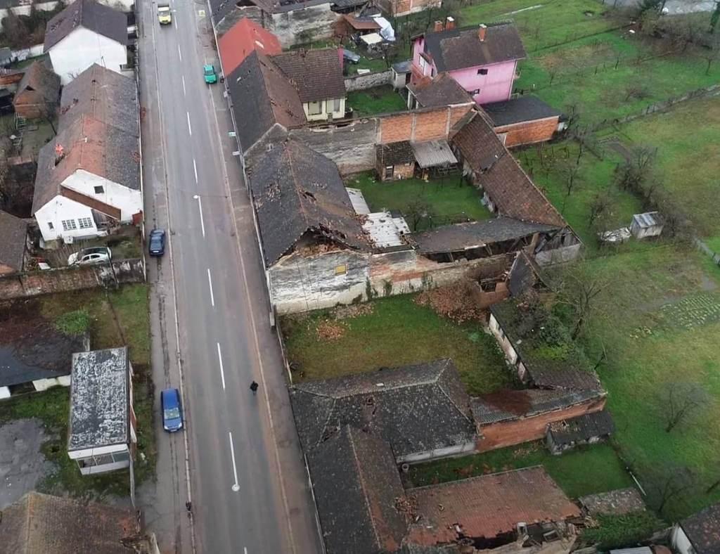 glina potres iz zraka