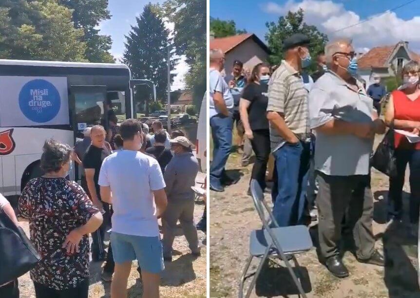 Covid-bus stigao u manja mjesta, red popunili uglavnom stariji građani