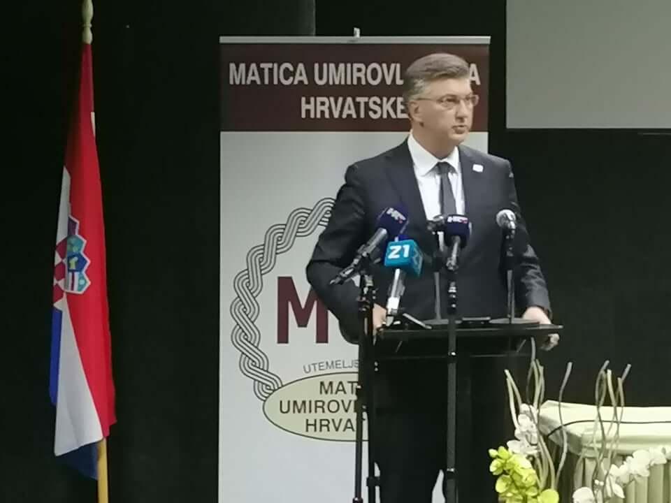 Matica proslavila 75. rođendan, Plenković: Današnju Hrvatsku dugujemo umirovljenicima