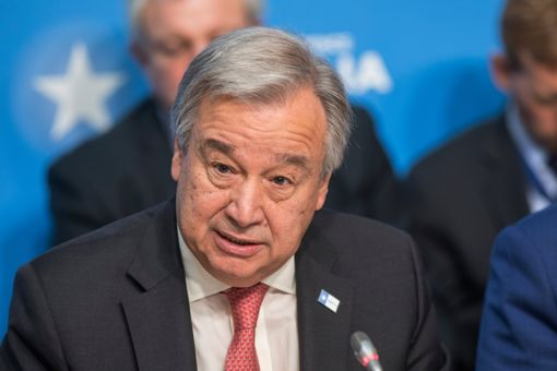 LONDON, UNITED KINGDOM - MAY 11: António Guterres, UN Secretary General, attends the London Conference on Somalia at Lancaster House on May 11, 2017 in London, England. (Photo by Jack Hill - WPA Pool/Getty Images)