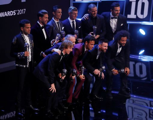 The top player nominees were the front three in the FIFPro World 11