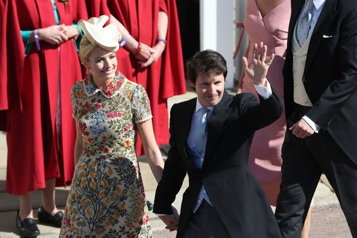 James Blunt (right) and Sofia Wellesley arrive