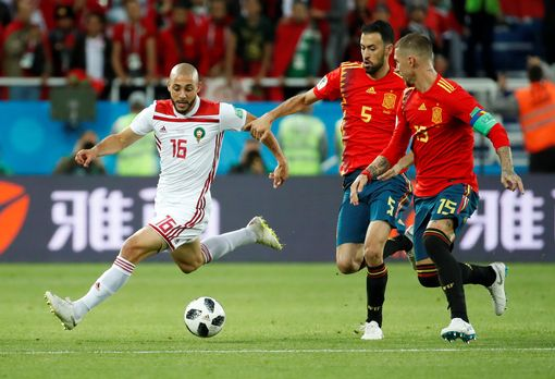 Nordin Amrabat in action