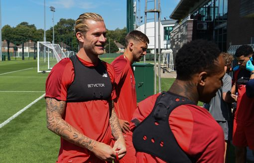 Loris Karius during pre-season training