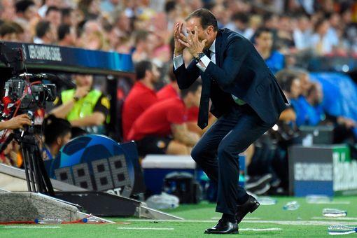 Massimiliano Allegri reacts