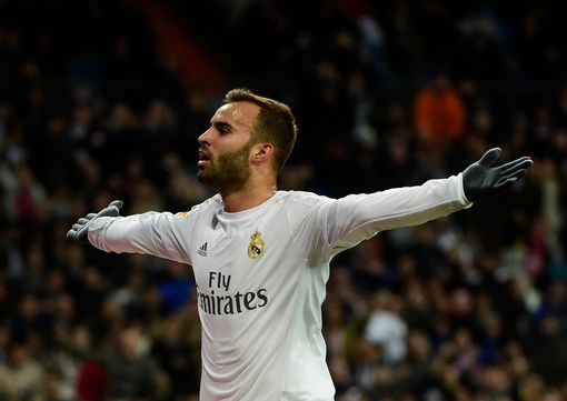 Real Madrid's forward Jese Rodriguez celebrates after scoring during the Spanish league football match Real Madrid CF vs Sevilla FC at the Santiago Bernabeu stadium in Madrid on March 20, 2016. / AFP PHOTO / PIERRE-PHILIPPE MARCOUPIERRE-PHILIPPE MARCOU/AFP/Getty Images