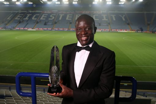 Players player of the year award winner N'Golo Kante during the Leicester City Awards Evening at the King Power Stadium on May 10th , 2016