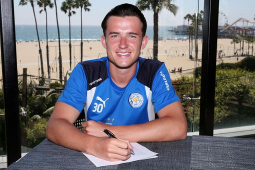 Ben Chilwell signs a new contract with Leicester City until 2021 during their pre-season US Tour