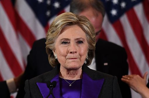 US Democratic presidential candidate Hillary Clinton makes a concession speech