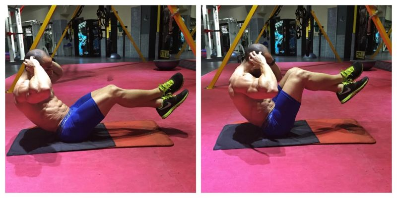 Knee to Chest Crunches