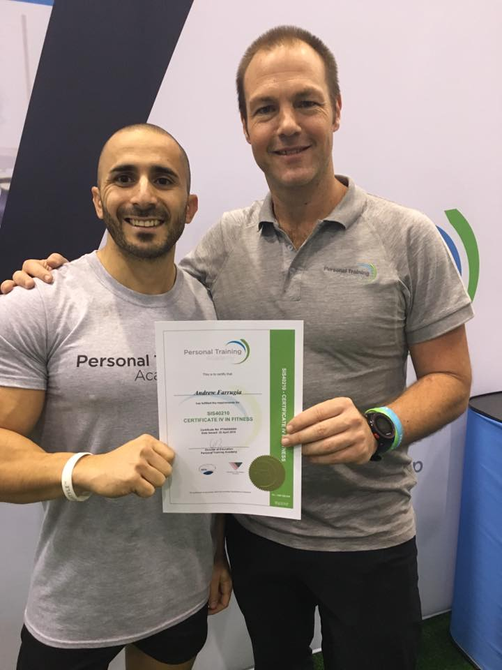 Receiving my certificate from PT Academy co-owner China Richardson