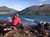 Appreciating Lake Hawea and its surroundings, South Island