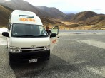 Coffee stop, Lindis Pass, South Island