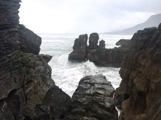 The power of nature, Pancake Rocks, Punakaiki, South Island