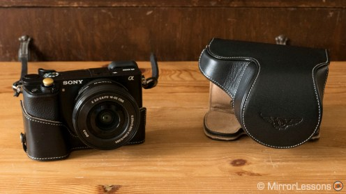 sony a6000 leather case