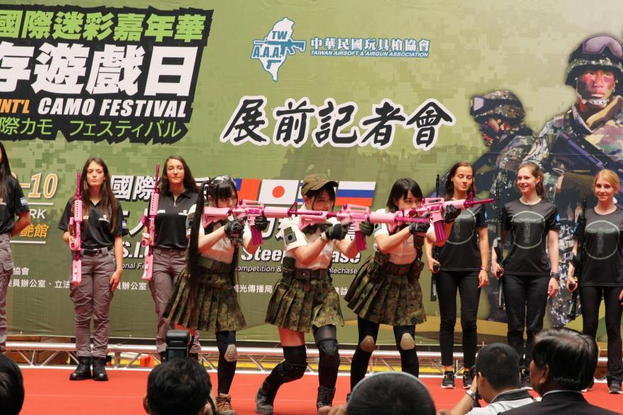 日本、俄羅斯、以色列及台灣玩家,將進行4國3人雙槍接力邀請賽。(讀者提供)