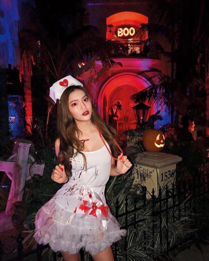 雖然才18歲,但陳亮君也有很多夜晚遊玩的照片。(翻攝自陳亮君IG)