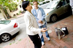 Sibel Edmonds arrives at the National Whistleblowers Center on Saturday, Aug. 8, 2009 in Washington, D.C. Photo by Greg Nash/Mirror-Spectator