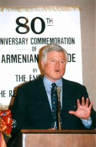 Sen. Edward Kennedy spoke at the commemoration of the 80th anniversary of the Armenian Genocide in Washington, DC.