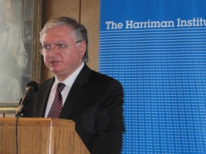 Foreign Minister Eduard Nalbandian at Columbia