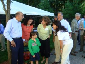 From left, Robert Mirak, Jill Mirak Kew, Christina Kew, Carolyn Mugar, Nancy Barsamian and Anthony Barsamian