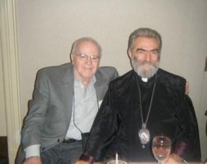 Garabed Babigian with Archbishop Pargev Mardirossian