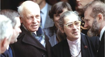 Elena Bonner, right, with her husband, Andrei Sakharov, in 1988
