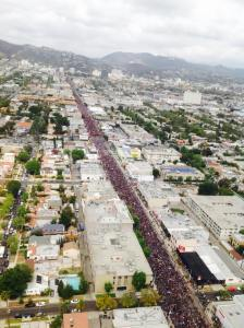 A sea of purple takes over Los Angeles