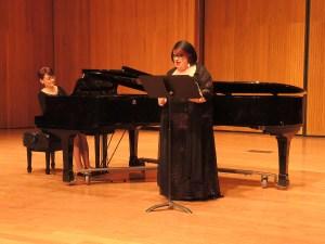 Soprano Anahit Nersessian accompanied by Naira Shahsouvarian on the piano