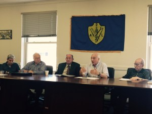 From left, Dr. Haroutiun Arzoumanian, Edmond Y. Azadian, Papken Megerian, Dr. Arshavir Gundjian and Dr. Noubar Berberian