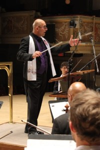 Conductor Rubik Mailian with the Detroit Armenian Chorale and Orchestra