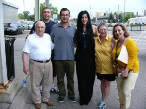 From left, Edmond Y. Azadian, Garo Koundakjian, Edvard Shevalye, Evgenia Stiop, Pam Coultis and Marina Arakchyan