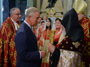Prince Charles and Catholicos of All Armenians Karekin II in Westminster Abbey