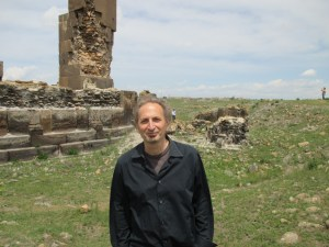 Peter Balakian amidst the ruins of Ani
