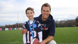 Gabriel Aljalian with Tom Brady