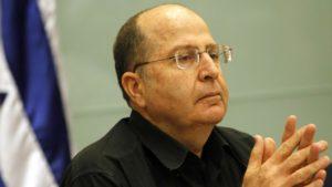 Israel Defense Minister Moshe Yaalon