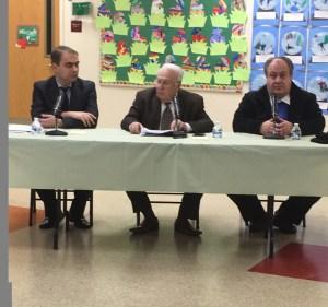 L-R,  Dr. Vahe Sahakyan, Edmond Azadian, Dr. Ara Sanjian