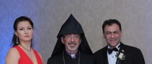 Marina Madosyan, Archbishop Khajag Barsamian and Ara Manoukian