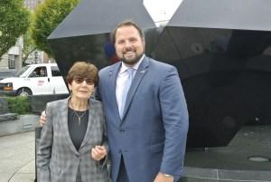 Judge Rya Zobel and state Rep. David Muradian (R-Grafton)