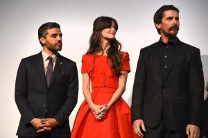 "From left, Oscar Isaac, Charlotte Le Bon and Christian Bale at the Toronto Film Festival premiere of ""The Promise"""