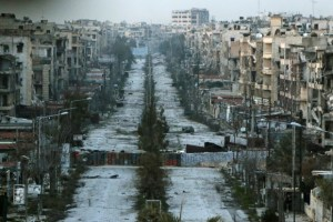 A scene from Aleppo this week (CBC photo)