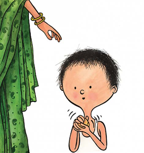 Illustration by Proiti Roy from 'What Shall I Make?' written by Nandini Nayar (Tulika Books / Frances Lincoln)