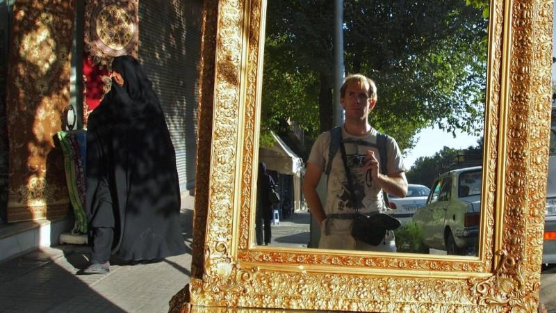 P9042018  Iran, Yazd, mirror, espejo