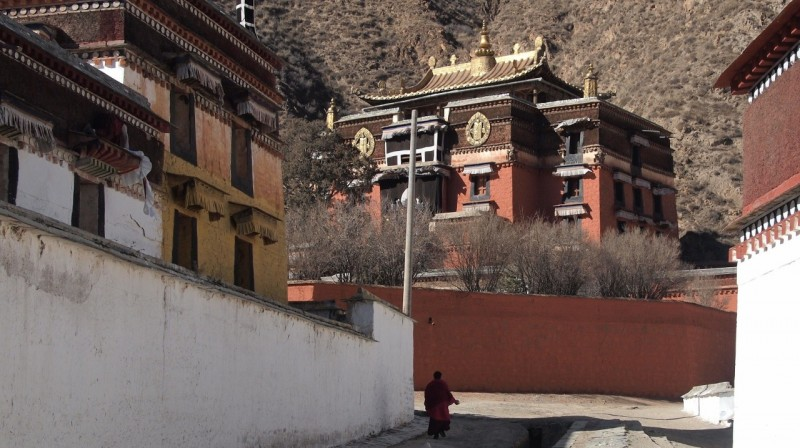PB216116 Labrang, Xiahe, Buddish, monasterio, monastery, Tibet, China