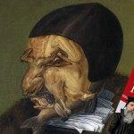 Uma caricatura de Calvino em Calvinismo Recalcitrante